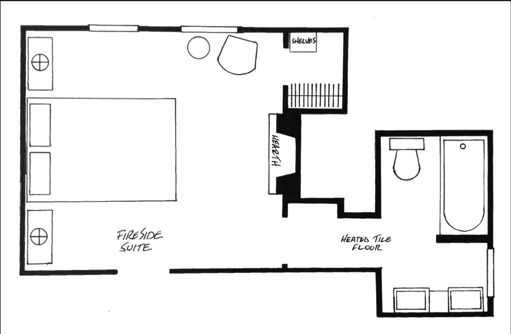 Fireside Suite Floorplan.