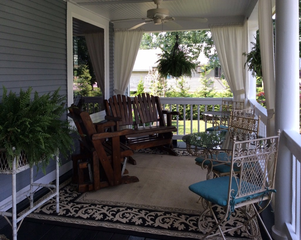 Feel free to bring your breakfast outside and dine on our covered front porch during the warm-weather months.